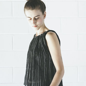 Objects Without Meaning - Accordion Top in Black Stripe