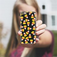 Candy Corn Jumble in Black iPhone 6 case by Lisa Argyropoulos | Casetify