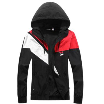 FILA Women's Fashion Coat Hooded Cardigan