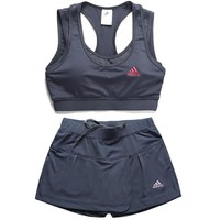 Trendsetter Adidas Gym Sport Yoga Embroidery Print Vest Tank Top Cami Shorts Set Two-P