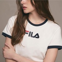fila women simple youth t shirt