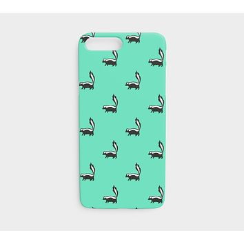Skunk Cell Phone Case iPhone 7 / 8 - Black on Light Green