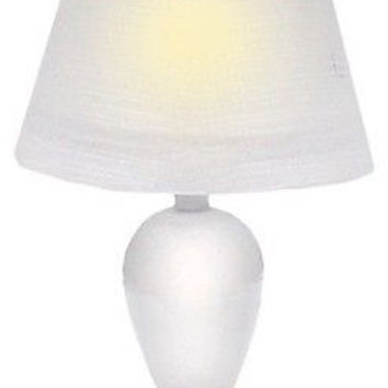 1:12 Scale 12v Table Lamp, White Teardrop #HW2530