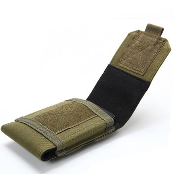 4.5-5.3 Inches Outdoor Camping Hiking Tactical Phone Bag MOLLE Army Camo Camouflage Bag Hook Loop Belt Pouch Nylon Mobile Case