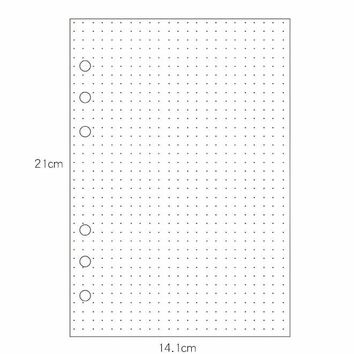 Large Dot Loose Leaf Notebook 35sheets