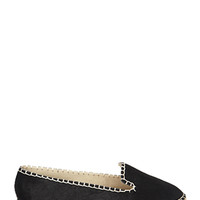 FOREVER 21 Topstitched Ponyhair Espadrilles Black