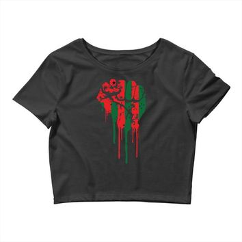 black power Crop Top