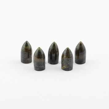 Bronzite Bullet Shape Gemstone, Bullet Stone Loose Smooth Gemstone Cabochons AAA Grade - 5pcs.