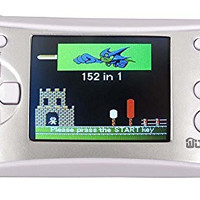 """WOLSEN 2.5"""" LCD Portable Handheld Arcade Game Console Speaker (Silver + White) (3 X AAA) 152 in 1 Games"""
