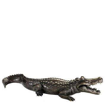 Bronze Sculpture | Eichholtz Crocodile