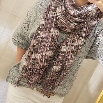 Multi-Colored Rectangular Soft Scarf