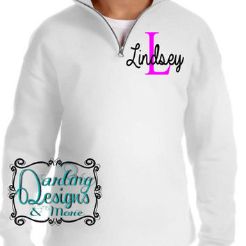 Darling Personalized with name 1/4 Zip Youth (Childrens) Sweatshirts
