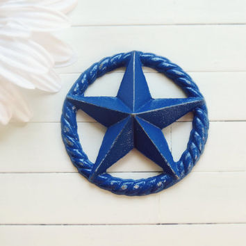 Metal Country Star / Country Rope / Country Decor / Primitive Decor / Texas Decor / Western Decor / Americana