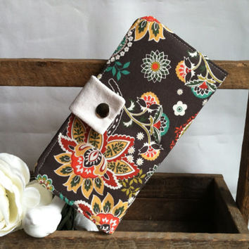 Floral Paisley folded wallet-coin pouch