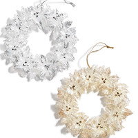 Holiday Lane Set Of 2 Wreaths Ornaments, Created for Macy's | macys.com