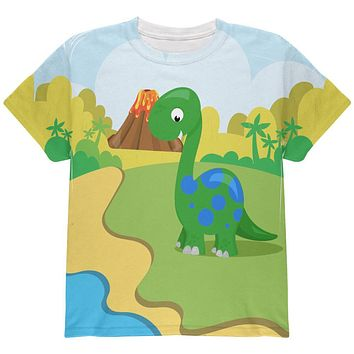 My Little Dinosaur All Over Youth T Shirt