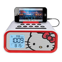 Hello Kitty Dual Alarm Clock Speaker System (HY-M23)