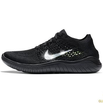 Nike Free RN Flyknit 2018 + Crystals - Black/Anthracite