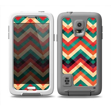 The Abstract Fall Colored Chevron Pattern Skin Samsung Galaxy S5 frē LifeProof Case