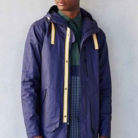 SLVDR Soren Coated Parka Jacket- Navy