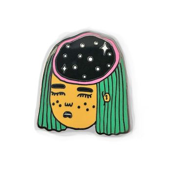 Head Space Enamel Pin