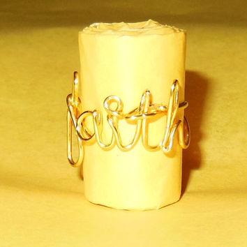 Wire Word Ring - Faith, Hope, Love