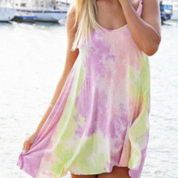 Multicolor Weaved Strap Shift Dress