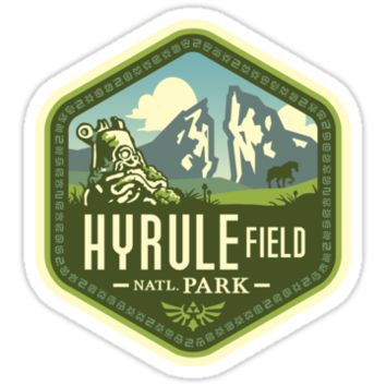 'Hyrule National Park' Sticker by Grant Thackray