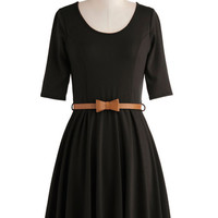 ModCloth Minimal Short Length 3 A-line Abiding Beauty Dress in Black