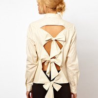 ASOS Shirt With Bow Back Detail