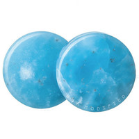 Vibrant Blue Quartz Stone Plugs (3mm-25mm)