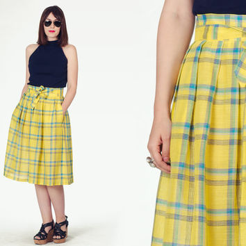 Best Yellow Plaid Skirt Products on Wanelo