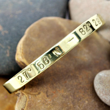 Coordinates / GPS / Longitude and Latitude Jewelry / Going Away Gift / Anniversary / Wedding Gift