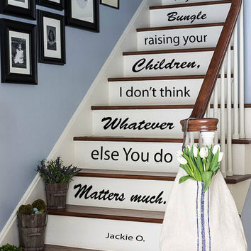 Wall Decals Quote About Children Staircase Stairway Design Stairs Words Phrase Home Vinyl Decal Sticker Kids Nursery Baby Room Decor kk805