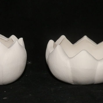 Set of 2 Lotus Candle Holders