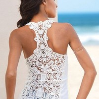 Crochet Race Back Tank from boutique24