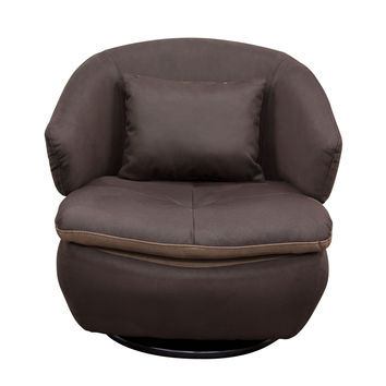 Rio Swivel Accent Chair in Brown Fabric by Diamond Sofa