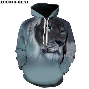 2017 New Fashion 3D Animal Hoodies Print Men/Women Harajuku Sweatshirt Casual Graphics Pullover Hoody S-6XL Plus Size