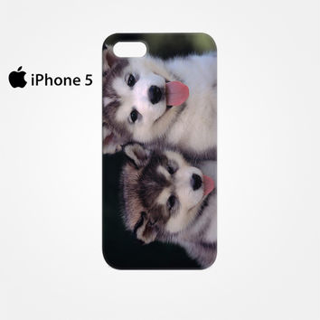 Siberian Husky Puppies Dog for Iphone 4/4S Iphone 5/5S/5C Iphone 6/6S/6S Plus/6 Plus 3D Phone case