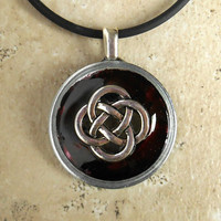 Celtic Knot Necklace: Deep Wine - Unique Jewelry - Celtic Jewelry - Pendant Necklace - Celtic Necklace - Irish Jewelry - Endless Knot