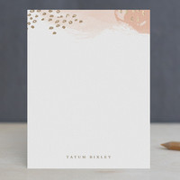 Painterly Foil-Stamped Stationery by Stacey Meacha... | Minted