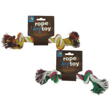 Multi-Color Knotted Cotton Rope Dog Toy Set of 24 Pack