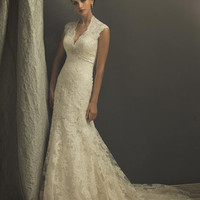 Romantic lace applique mermaid wedding dress sexy by zoombridal