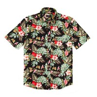 HUF | HAWAIIAN S/S WOVEN // BLACK TROPICAL