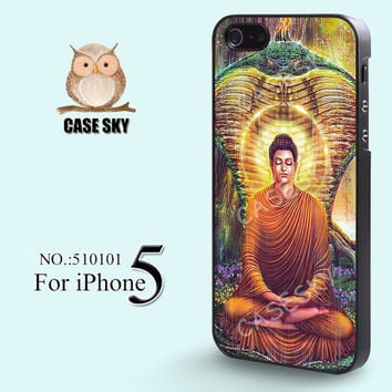 iPhone 5 Case Buddha Vintage iPhone Case Plastic Phone by casesky