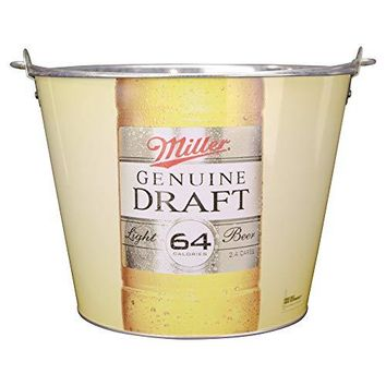 Beer Brand Full Color Aluminum Beer and Ice Bucket (Miller Genuine Draft)