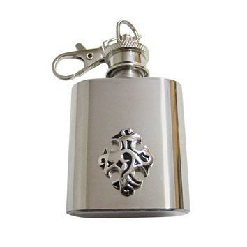 Detailed Celtic Cross 1 Oz. Stainless Steel Key Chain Flask