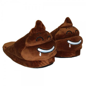Emoji Plush Stuffed Home Slippers Cartoon Winter Indoor Slipper