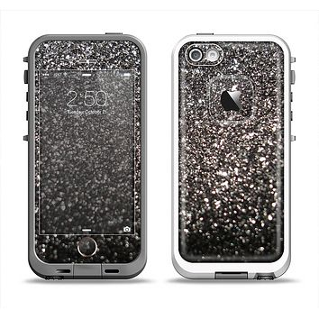 The Black Unfocused Sparkle Apple iPhone 5-5s LifeProof Fre Case Skin Set