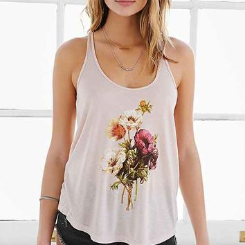 OBEY Confident Floral Tank Top- Pink